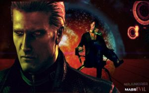 Wesker and The Illusive Man by MrJuniorer