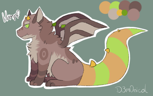 Fluffy Dragon Adopt by D3m0nical