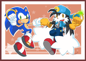 Sonic and Klonoa by Domestic-hedgehog