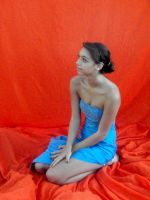 Blue Dress 6 by dinajen-stock