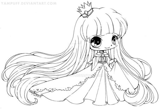 Little Princess Lineart by YamPuff