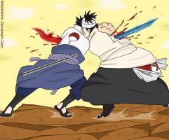 Sasuke Vs Danzou - 479 by MasterAmin