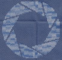X-Stitch Aperture Science Logo by missy-tannenbaum