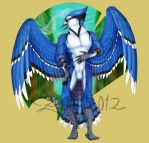Bluejay ANTHRO commission by Zanten