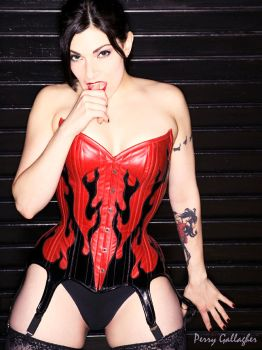 Red Flame Corset by Anyssa