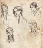 Hunger Games Character Sketch by liliribs