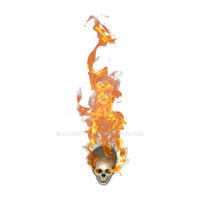 Skull Flaming 1[heat,fire,flame,flaming,burning,sk by Madcowchef