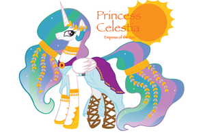 Princess Celestia's Gala Dress 2012 by InkRose98