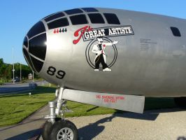 Whiteman Display B-29 art by F16CrewChief