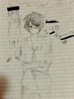 I did not draw senpai during Science by akisegu12