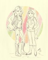 Adventure Time Girls by Ladymalk
