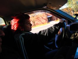 Axel Driving...? by momo9595