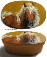Fantasy Mane, painted box by rieke-b