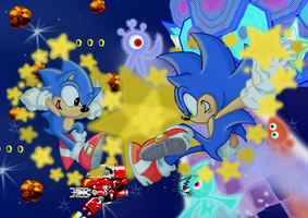 Star Studded Sonics Entry by I-Am-Imaginary