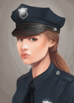 Lisa Costello - Police Precinct Fan Art by x-Ren-x