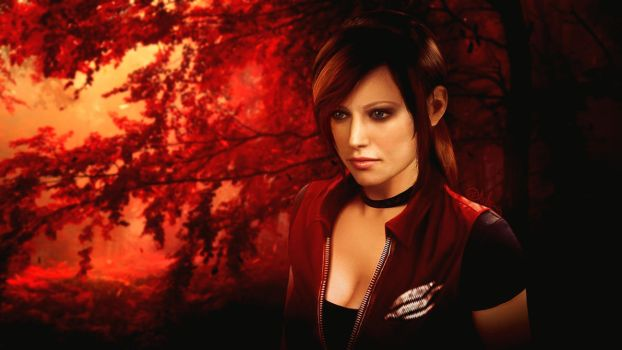 Photorealistic Claire Redfield by push-pulse