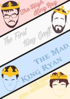 Achievement Hunter Kings Poster by GingerJMEZ