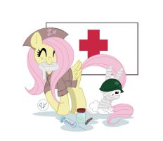 Military is Magic Fluttershy by GreenWiggly