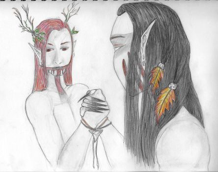 Aaron  Duada - Handfasting by AnneDeLioness