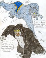 Beast vs Gorilla Grodd by Jose-Ramiro