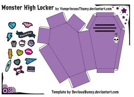 Monster High Locker Papercraft by VamprincessThamy