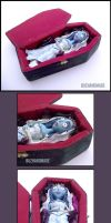 Emily - CORPSE BRIDE in Coffin by buzhandmade
