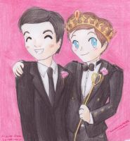 Klaine at Prom by kawaiisweetie-chan