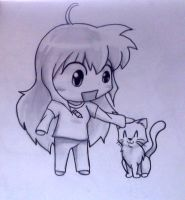 me and Sesshomaru cat by IfreakenLoveDrawing