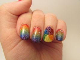 Microbead Nails by QueenAliceOfAwesome
