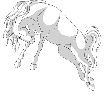 free horse lineart 3 by Wild-Hearts