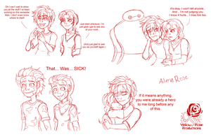 BH6: Hiro and Katheen Sketches by Aileen-Rose