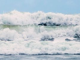 Three waves. by lucyparryphotography