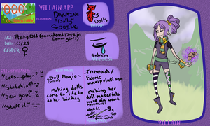 Adventures of OOO Villain Application Dolly by Twin-Divinity