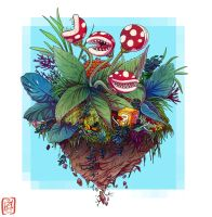 Garden full of Piranha plants by iisjah