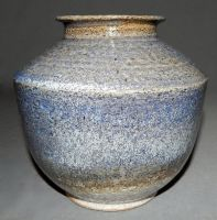 blue speckled vase by cl2007