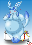Fat Glaceon by Dead-Dragon