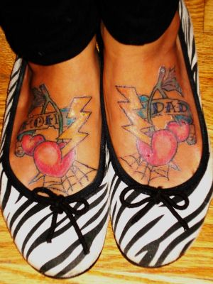 Mom and Dad Feet Tattoos Also didnt