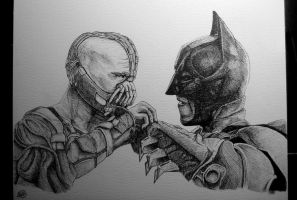 Bane Vs Batman by NGC-7293