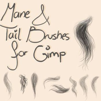 Mane and Tail Brushes for Gimp by oOo-Alouette-oOo