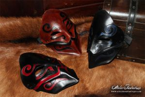 Leather masks by AtelierFantastique