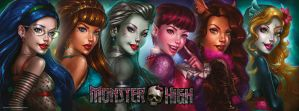 All together - Monster high portraits by Aioras
