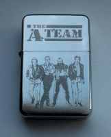 A-TEAM - engraved lighter by Piciuu