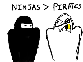 Ninjas Greater Than Pirates by Eng360