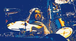 Dave Grohl on Drums by nicollearl
