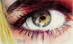 Bye (Biro eye) by cloudmilk