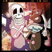 Best buddies Horrorman and Baikinman by MichaelJLarson