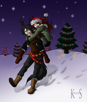 Ride of the Midnight Reindeer by khronosabre