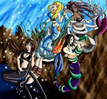 Mermaid group wrapped up by Wing-Saber