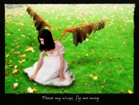 Please my wings, fly me away. by EndOfTime