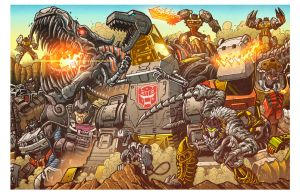 All Hail Grimlock - Botcon 2014 print by KaijuSamurai